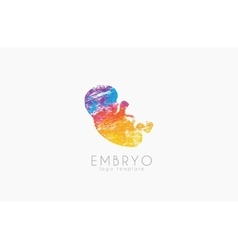 Embryo logo design Silhouette of embryo baby in vector image
