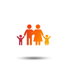 family icon parents with children symbol vector image