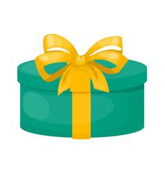 gift box with ribbon christmas present holiday vector image