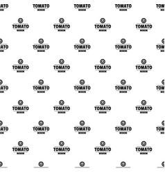 Gmo free tomato pattern seamless vector