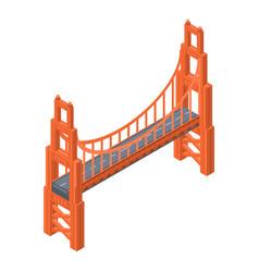 golden gate bridge icon isometric style vector image
