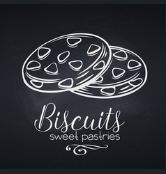 hand drawn biscuit icon vector image