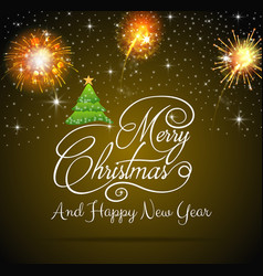 happy new year and merry christmas 2019 vector image