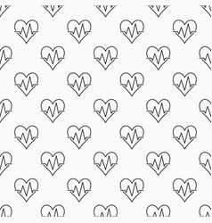 Heart pulse seamless minimal pattern vector