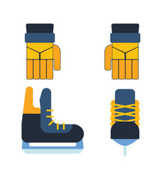 Hockey skates ice boots pair vector