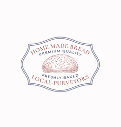 home made bread frame badge or logo template hand vector image