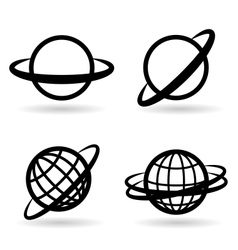 icons planet vector image
