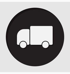 Information icon - lorry car vector
