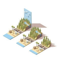Isometric seaside landscape vector