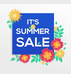 It is summer sale - modern colorful vector