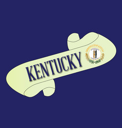 Kentucky scroll vector
