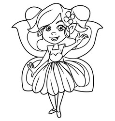 little fairy on white vector image