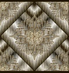 luxury 3d modern seamless pattern grid lattice vector image