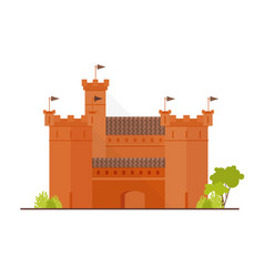Medieval fortress citadel or stronghold with vector
