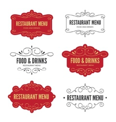 Menu labels vector
