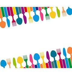 menu with cutlery vector image