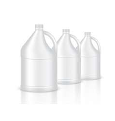 Mock up realistic plastic gallon packaging vector