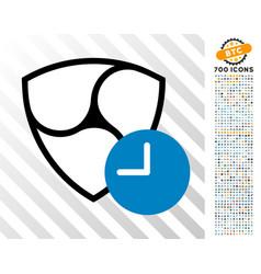 nem clock flat icon with bonus vector image