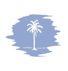 Palm logo serenity vector