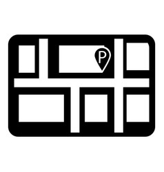 parking icon simple style vector image