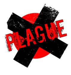 Plague rubber stamp vector