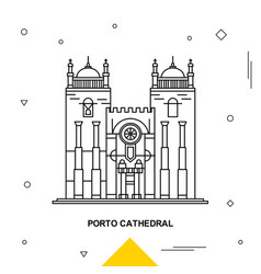 porto cathedral vector image