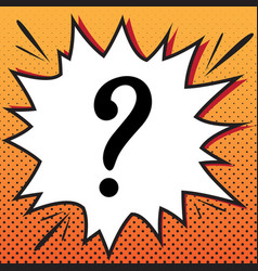 question mark sign comics style icon on vector image