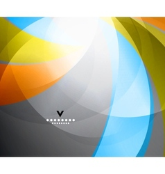 Rainbow shiny abstract design template vector image