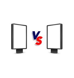 Realistic light box template versus vs background vector