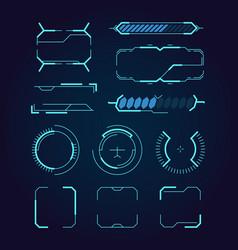sci fi ui hud web futuristic elements modern vector image