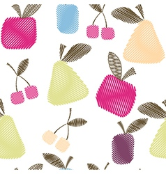 Seamless decorative pattern with fruits vector image