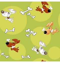 seamless dogs and bones vector image