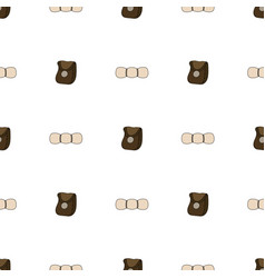 Seamless pattern with sleeping bag and leather vector