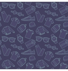 Seamless patterns of male for online store vector image