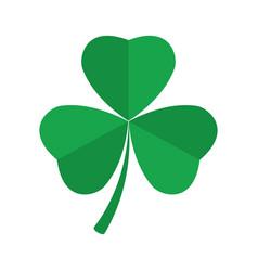 Shamrock clover icon st patrick s day symbol vector