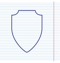 shield sign navy line icon vector image