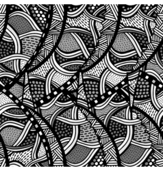 sketchy seamless pattern vector image