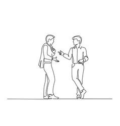 standing two men emotionally speaking vector image