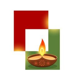 stylish diwali design vector image