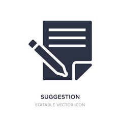 Suggestion icon on white background simple vector