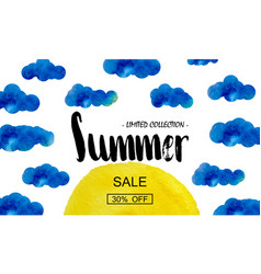 summer big discount special offer for the summer vector image