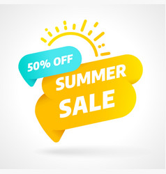 summer sale banner template design special offer vector image