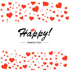template design for horizontal postcard valentine vector image