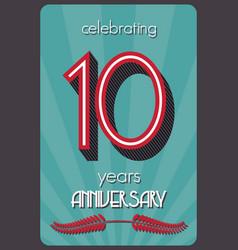 ten years anniversary vector image