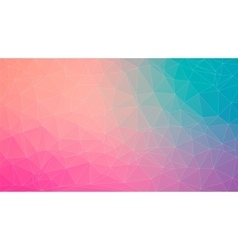Tial and Pink abstract polygonal background vector image