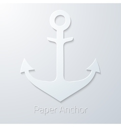Antique travel paper anchor flat icon vector image