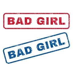 Bad Girl Rubber Stamps vector image vector image