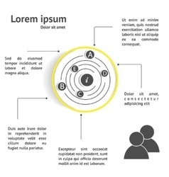 Circle design infographic template vector image