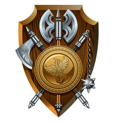 Crest of arms vector image vector image