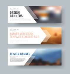 Design of standard horizontal web banners with vector